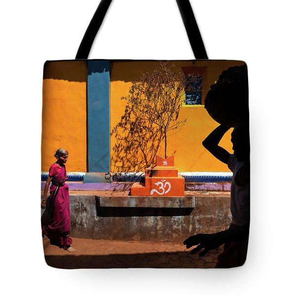 Indian Colors Tote Bag by Marji Lang