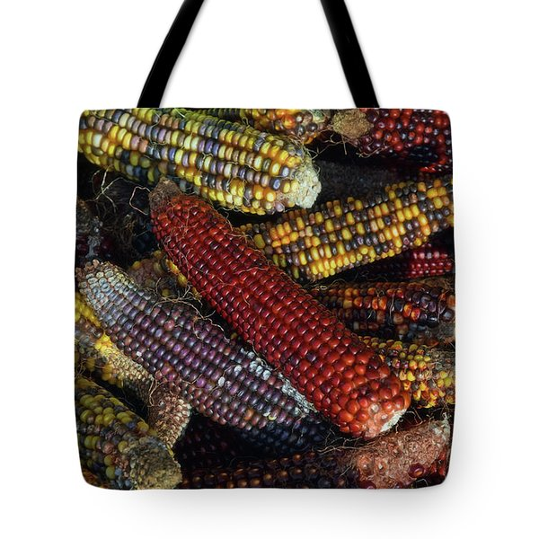 Indian Corn Tote Bag by Joanne Coyle