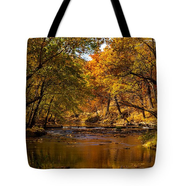 Indian Creek In Fall Color Tote Bag