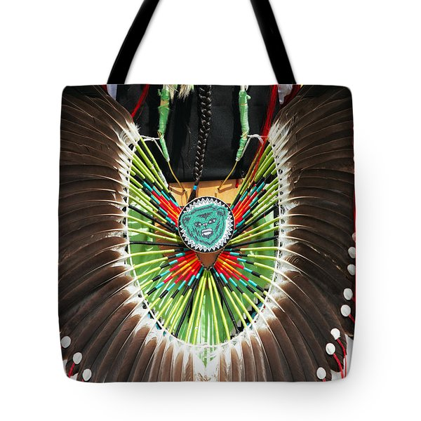 Tote Bag featuring the photograph Indian Decorative Feathers by Todd Klassy