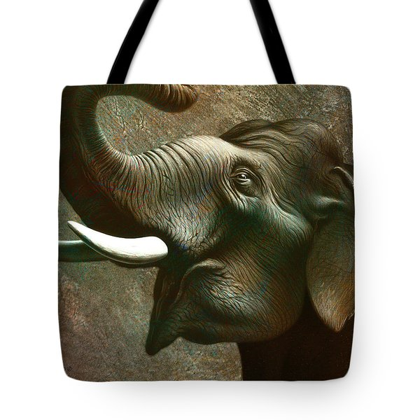Indian Elephant 3 Tote Bag by Jerry LoFaro