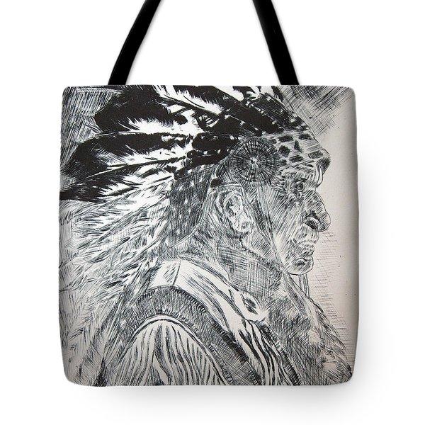 Indian Etching Print Tote Bag by Lisa Stanley