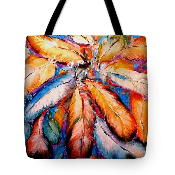 Indian Feathers 2006 Tote Bag by Marcia Baldwin