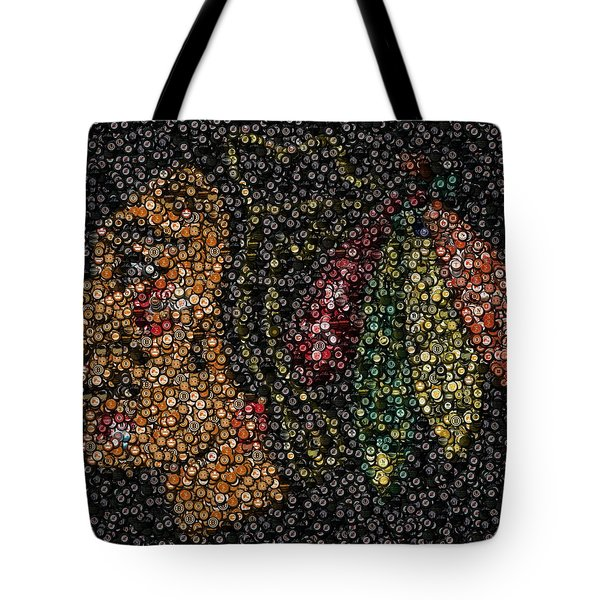 Indian Hockey Puck Mosaic Tote Bag
