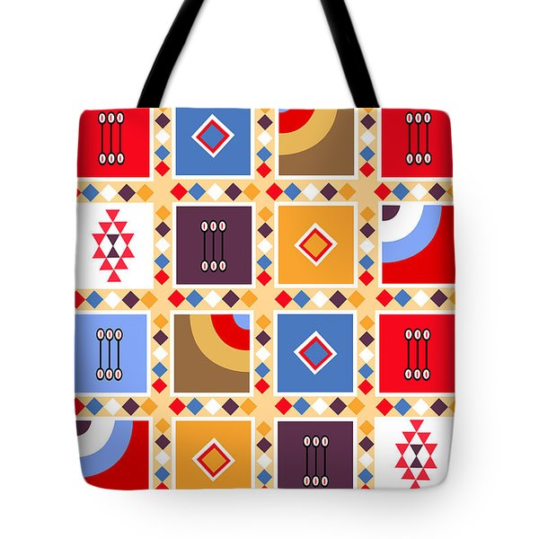 Indian Mexico Pattern On The Carpet Tote Bag