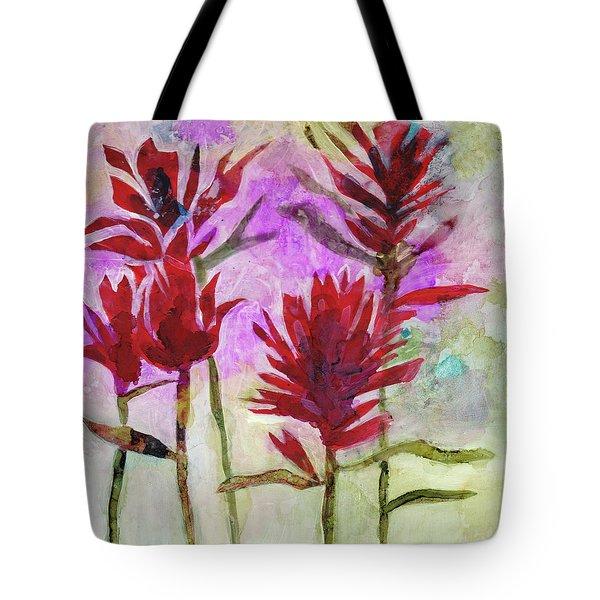 Indian Paintbrush Tote Bag by Julie Maas