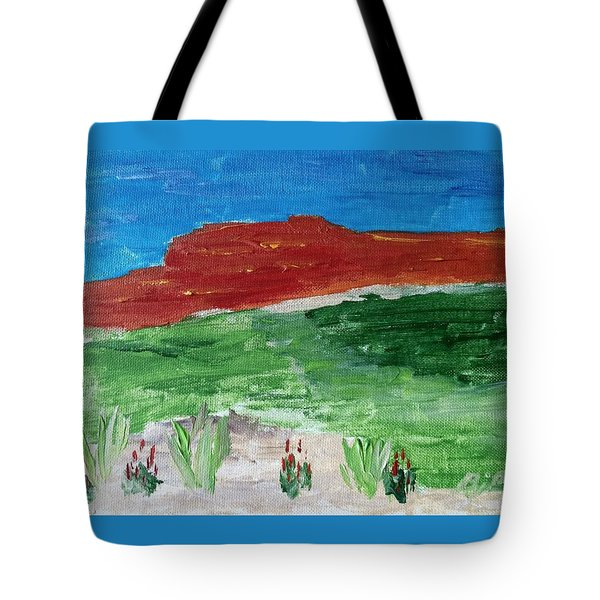 Indian Paintbrush Under A Midday Sun Tote Bag by Brenda Pressnall