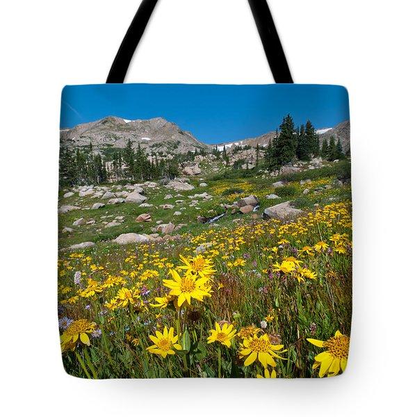 Indian Peaks Summer Wildflowers Tote Bag