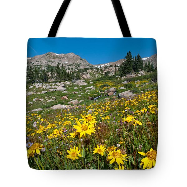 Indian Peaks Summer Wildflowers Tote Bag