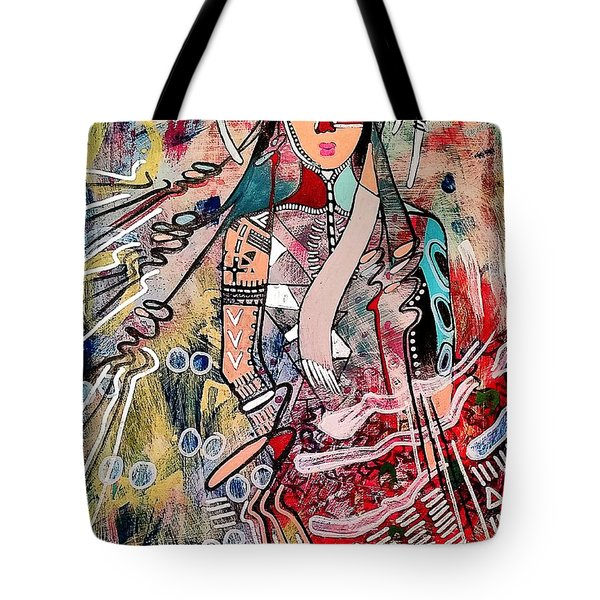 Tote Bag featuring the painting Indian Princess by Amy Sorrell