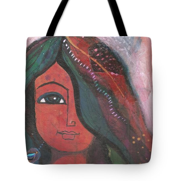 Indian Rajasthani Woman Tote Bag