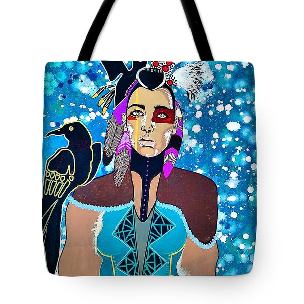 Tote Bag featuring the painting Indian Raven by Amy Sorrell