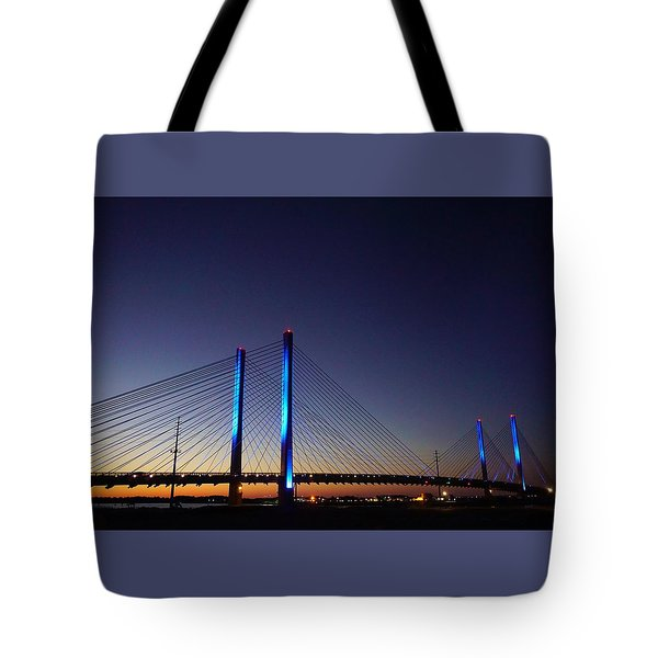 Tote Bag featuring the photograph Indian River Inlet Bridge by Ed Sweeney