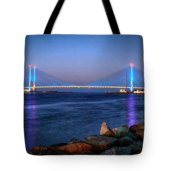 Indian River Inlet Bridge Twilight Tote Bag