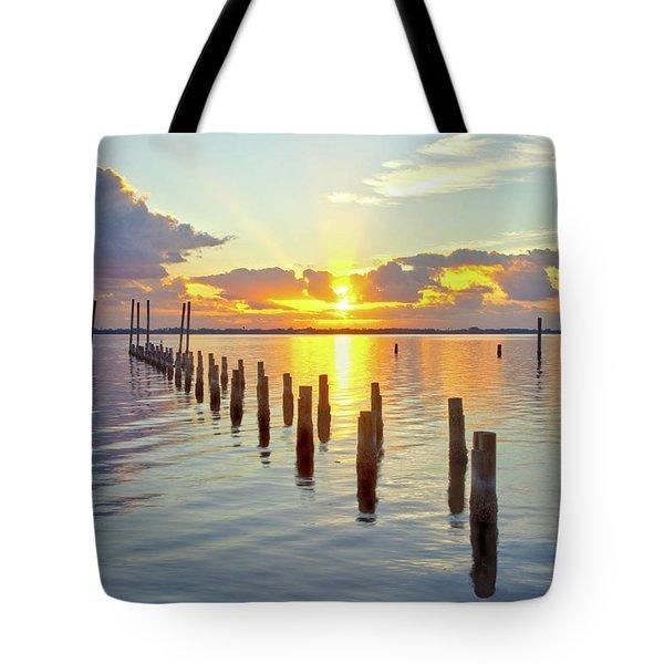Indian River Sunrise Tote Bag