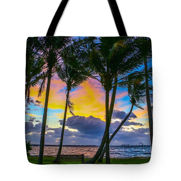 Tote Bag featuring the photograph Indian River Sunrise by Tom Claud