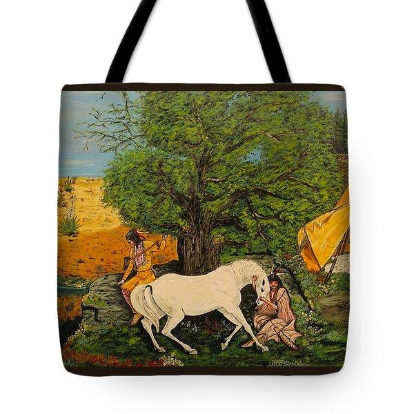 Indian Romance Tote Bag by V Boge