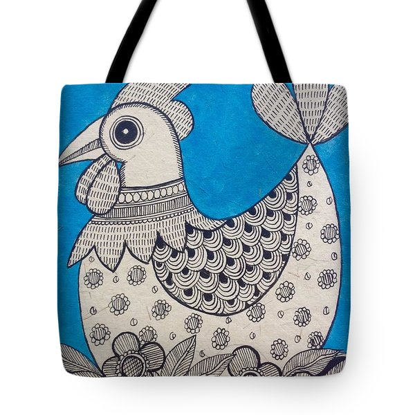 Indian Rooster  Tote Bag