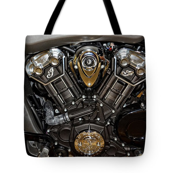 Indian Scout Engine Tote Bag