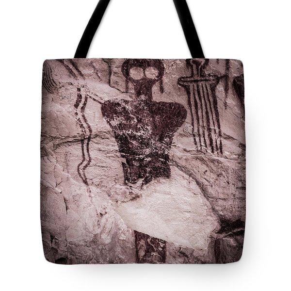 Indian Shaman Rock Art Tote Bag by Gary Whitton
