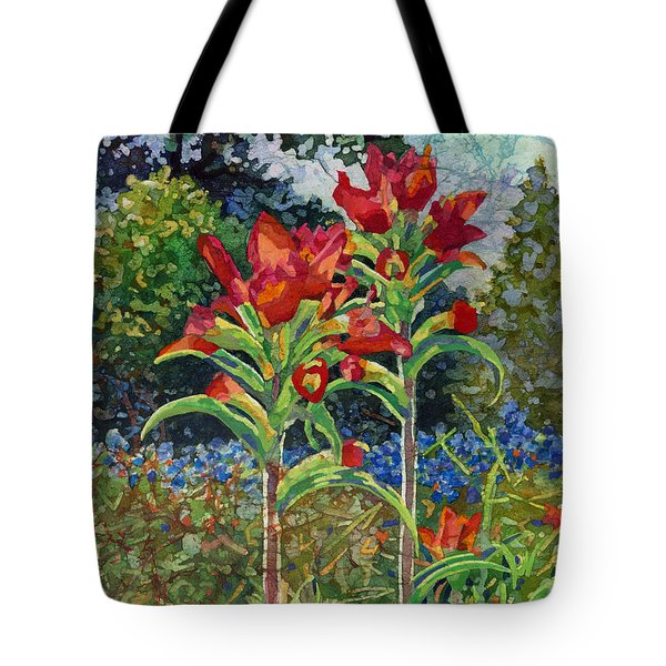 Indian Spring Tote Bag by Hailey E Herrera