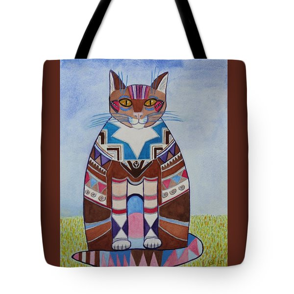 Indian Squirrel Cat Tote Bag