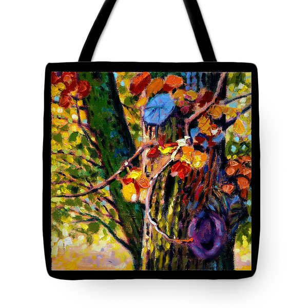 Indian Summer Detail Eight Tote Bag by John Lautermilch