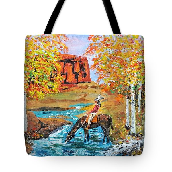 Indian Summer In The Rockies Tote Bag