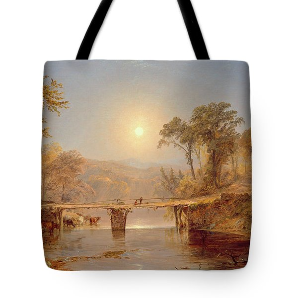 Indian Summer On The Delaware River Tote Bag by Jasper Francis Cropsey