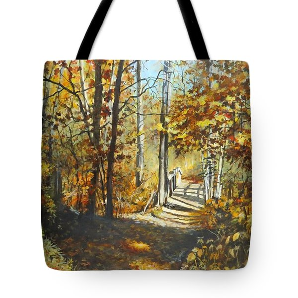 Indian Summer Trail Tote Bag