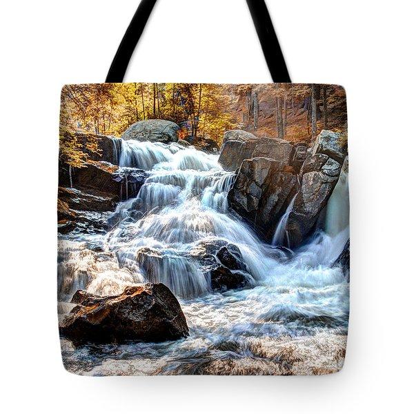 Indian Summer Waterfalls Tote Bag by Darleen Stry