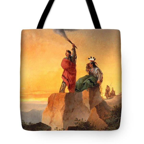 Indian Telegraph Tote Bag by John Mix Stanley