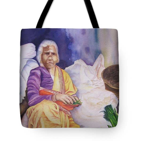 Indian Woman At Market IIi Tote Bag