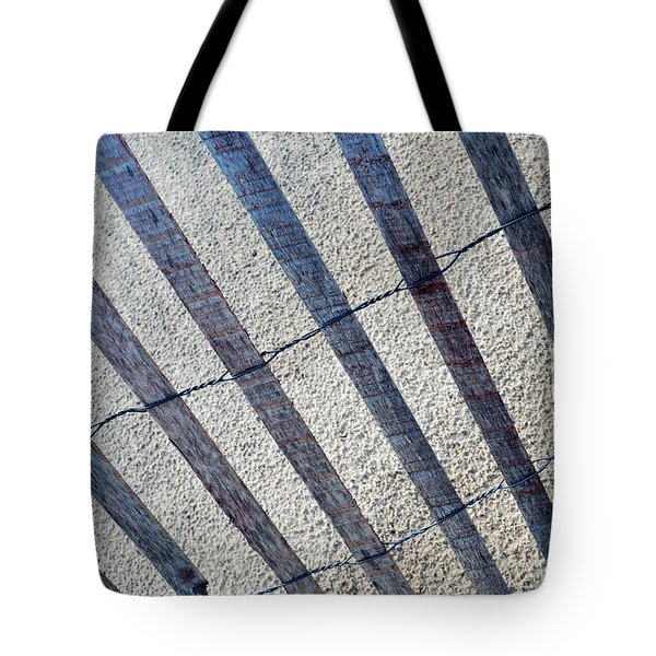 Indiana Dunes Beach Fence Tote Bag