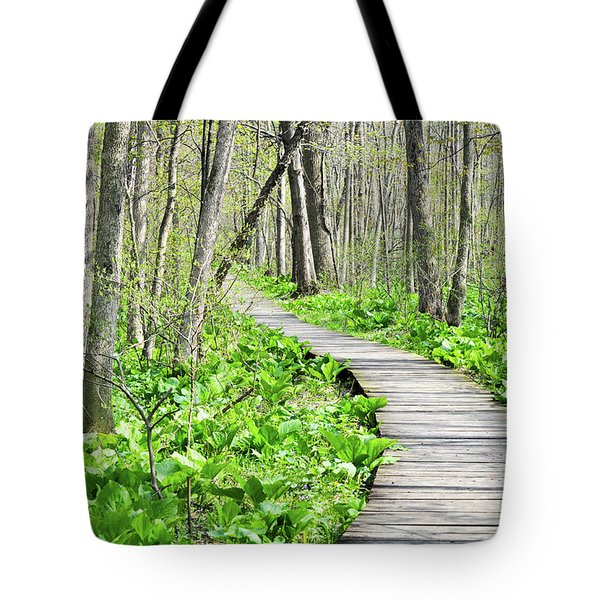 Indiana Dunes Great Green Marsh Boardwalk Tote Bag