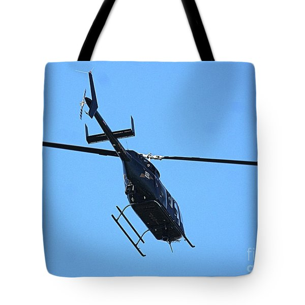 Indiana State Police Helicopter - Overhead Tote Bag