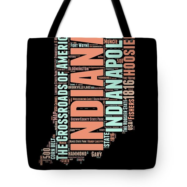 Indiana Word Cloud Map 1 Tote Bag