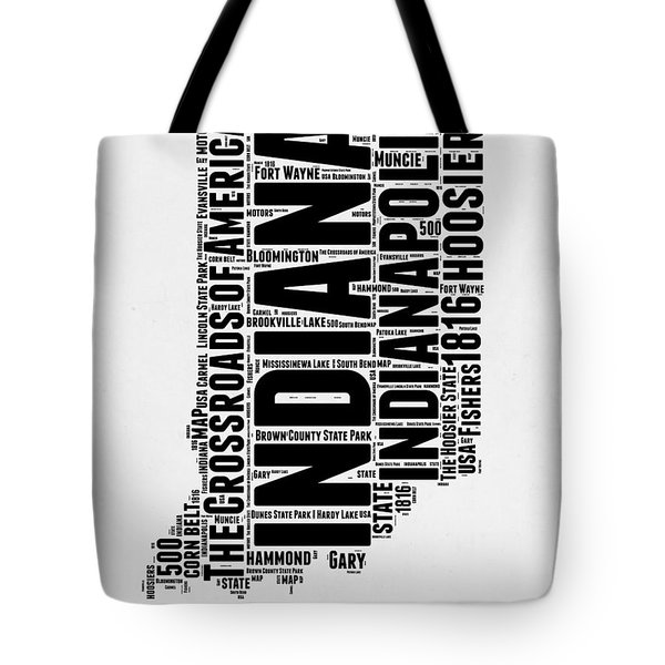 Indiana Word Cloud Map 2 Tote Bag