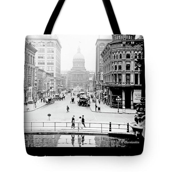 Indianapolis, Indiana, Downtown Area, C. 1915, Vintage Photograp Tote Bag