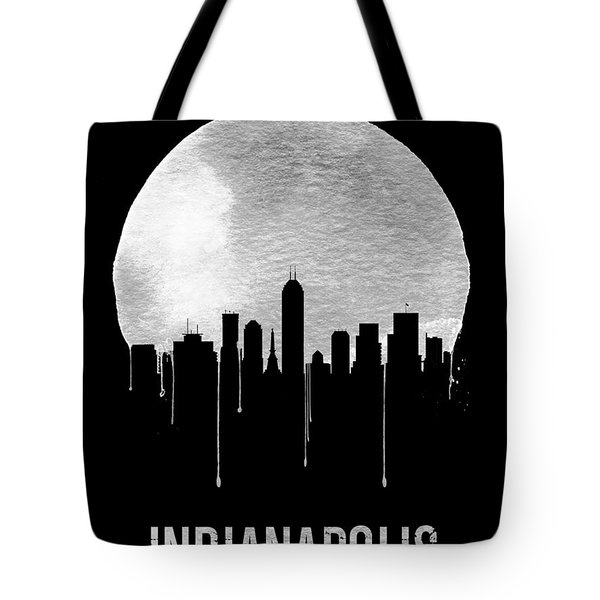 Indianapolis Skyline Black Tote Bag