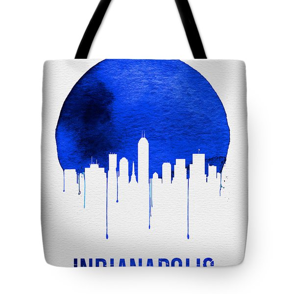 Indianapolis Skyline Blue Tote Bag