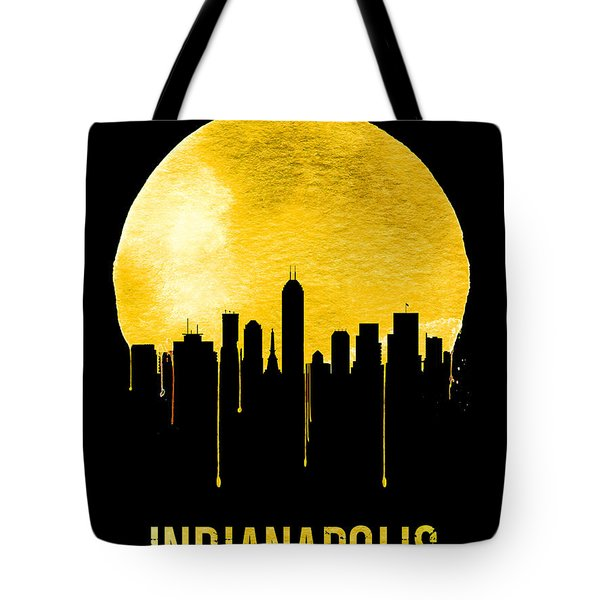 Indianapolis Skyline Yellow Tote Bag
