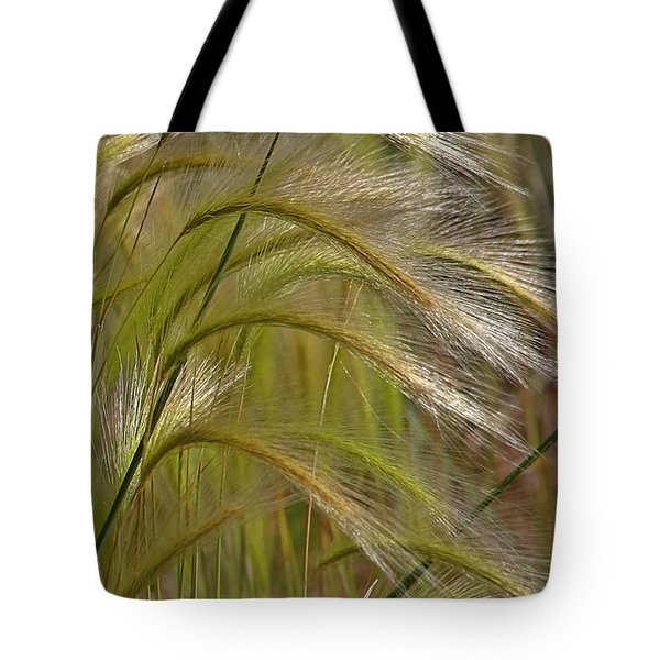 Indiangrass Swaying Softly With The Wind Tote Bag by Christine Till