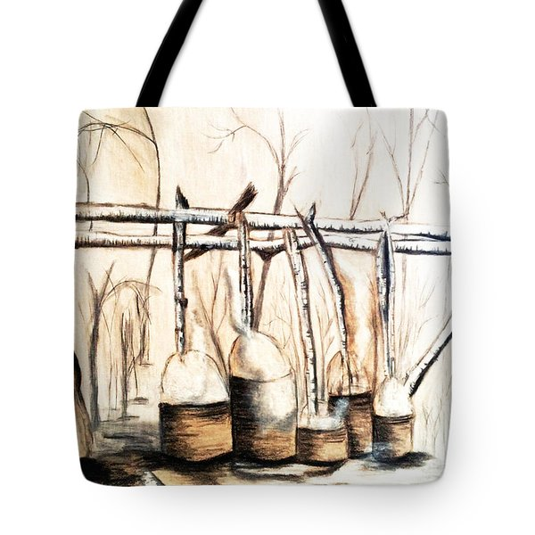 Indians Making Maple Sugar. Cass Lake. 1905  Tote Bag