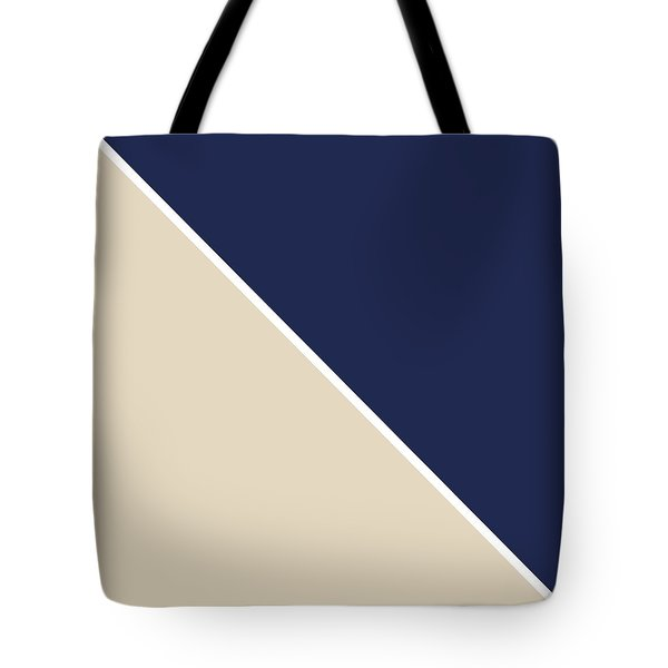 Indigo And Sand Geometric Tote Bag