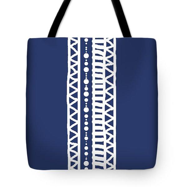 Indigo Batik Tribal Stripe Tote Bag