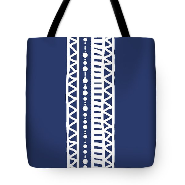 Indigo Batik Tribal Stripe Tote Bag
