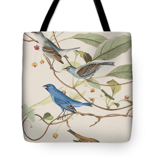 Indigo Bird Tote Bag