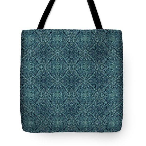 Indigo Diamond Cross Pattern 24in Tote Bag