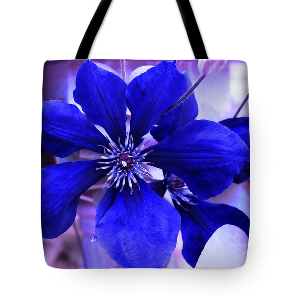 Indigo Flower Tote Bag by Milena Ilieva